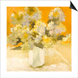 White Hydrangea Bouquet Poster by Dale Payson