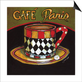 Cafe Paris Poster by Jennifer Garant