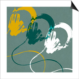 Headphones A Poster by Stella Bradley