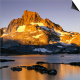 Banner Peak and Thousand Island Lake in the Sierra Nevada Mountains, California, USA Posters by Wes Walker
