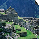 Machu Picchu Overlooking the Sacred Urubamba River Valley, Machu Picchu, Cuzco, Peru Posters by Wes Walker