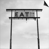 Eat Sign at Abandoned Truck Stop, Bliss, Idaho, Usa Prints by Paul Souders