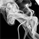 Black Smoke Abstract Square Posters by  GI ArtLab