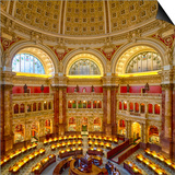 USA, Washington DC. The main reading room of the Library of Congress. Prints by Christopher Reed