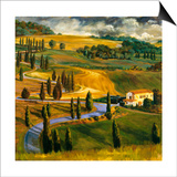 Umbrian Hills II Prints by Sarah Waldron