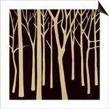 Sepia Forest 2 Print by Mary Calkins