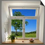 Blick aus dem Fenster Kunstdrucke von paul prescott