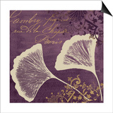 Lavender Ginkgo Prints by Booker Morey