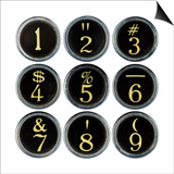 Typewriter Keys Prints by  GI ArtLab