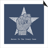 Here's to the Crazy Ones (white on blue) Art
