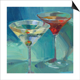 Martini in Aqua Prints by Patti Mollica