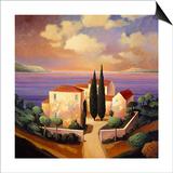 Sea View Villa Poster by Max Hayslette