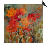 Orange Flower Prints by Michelle Abrams
