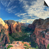 USA, Utah, Zion National Park, Zion Canyon from Angel's Landing Poster by Michele Falzone