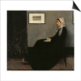 Arrangement in Gray and Black No. 1 (Whistler's Mother) Art by James Abbott McNeill Whistler