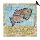 Mosaic Fish Prints by Susan Gillette