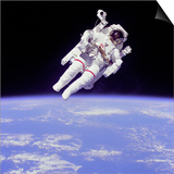 Astronaut Bruce Mccandless in Floating Weightless 320 Feet from the Space Shuttle Challenger Print