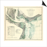 1865, Charleston Harbor Chart South Carolina, South Carolina, United States Prints