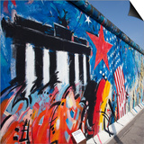 Eastside Gallery (Berlin Wall), Muhlenstrasse, Berlin, Germany Print by Jon Arnold