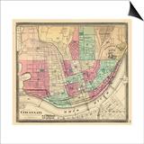 1868, Cincinnati, Ohio, United States Print