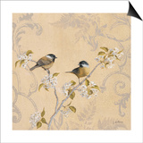 Chickadee and Pear Posters by Jill Schultz McGannon