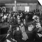 Immigrants Awaiting Examination at Ellis Island, 1902 Poster