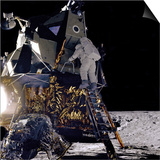 Apollo 12 Astronaut Alan Bean Starts Down Ladder of Lunar Module 'Intrepid' Posters