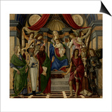 Altarpiece of San Barnabas, Virgin, Child, & Saints Prints by Sandro Botticelli