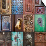 On the Door III Print by Kathy Mahan