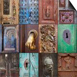 On the Door III Print by Kathy Mahan
