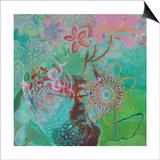Bohemian Blooms Art by Jeanne Wassenaar