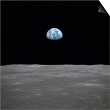 Apollo 11 Earth Rise over the Moon, July 20, 1969 Posters