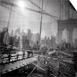 Brooklyn Bridge Triple Prints by Evan Morris Cohen
