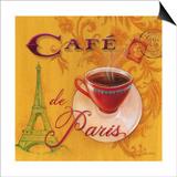 Paris Café Prints by Angela Staehling
