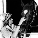Diane Crump, the First Woman to Ride in the Kentucky Derby, with Her Horse Fathom, 1970 Prints