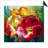 Tulip Trio Print by Elizabeth Horning