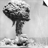Atomic Energy: an Explosion of the H-Bomb During Testing in the Marshall Islands, 1952 Print
