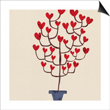 Heart Tree in Pot Print