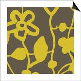 Gold Floral Pattern Poster