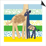 Giraffe Family Prints by  Z Studio