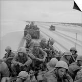 US Marines Arrive on a South Vietnam Via Amphibious Landing Craft, 1966 Poster