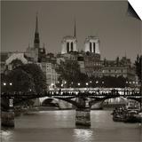 Notre Dame and Pont Des Arts, Paris, France Posters by Jon Arnold