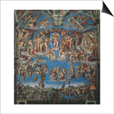 Sistine Chapel, the Last Judgment (Entire View) Prints by  Michelangelo Buonarroti