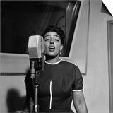 Carmen McRae, CBS Radio 1955 Print by G. Marshall Wilson