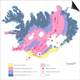 Geological Map of Iceland Prints by Gary Gastrolab
