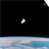 Floating Astronaut Print by  NASA