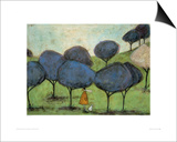 Sniffing The Lilac Print by Sam Toft