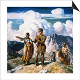 Wyeth: Sacajawea Prints by Newell Convers Wyeth