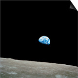 Earthrise Over Moon, Apollo 8 Art by  NASA