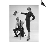 John French and and Daphne Abrams in a Tailored Suit, 1957 Prints by John French